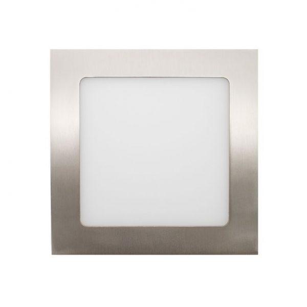 Painel Led Quadrado Inox de 12w